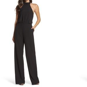 NWT lulu's black moment for life jumpsuit small